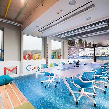 Google iroda dekorációja